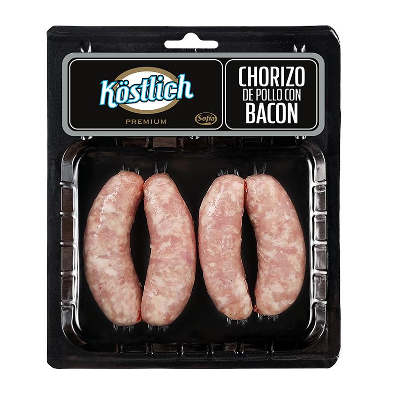 Chorizo de pollo con bacon